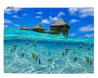 Cruise Ship travel Bag, Cruise ship cosmetic pouch, XL Travel bag, NIrvanaRoad Travel pouch, Beach cosmetic makeup pouch, Cruise ship gift