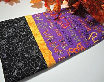 Kids Purple Halloween Words Pillowcase (Standard Size)