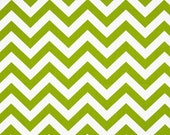 SALE Chevron Fabric by Premier Prints Twill Zig Zag Green Chartreuse - 1 Yard