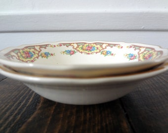 Set of Two Floral Salad Dessert Bowls