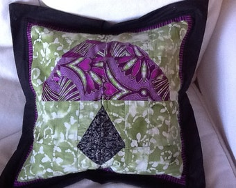 TIFFANY LAMP PILLOW Cover - Original Signed by Artist #111 Janelle Lombard design
