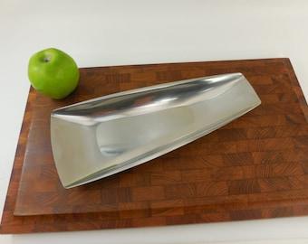 Gense Sweden 18-8 Stainless Triangular Long Tray Bowl Dish - Mid Century Modern Minimalist
