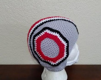 Ohio State Buckeyes Helmet With Letter O-Beanie-Hat-Football-Team Spirit-Made to Order-Unisex-All Sizes