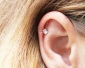Dainty Crystal Ear Cuff / Hypoallergenic Silicone Ear Cuff / Swarovski Crystal Ear Cuff / Kristin Perry