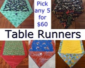 Table Runner ** Pick any 5 for 60 Dollars - House Warming Gift - Handmade Gift  / Gift for Mom / Gift for Girlfriend / Hostess Gift