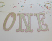 Gold ONE Highchair Banner - Ready To Ship
