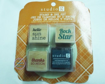 Studio G Stamp And Ink Set