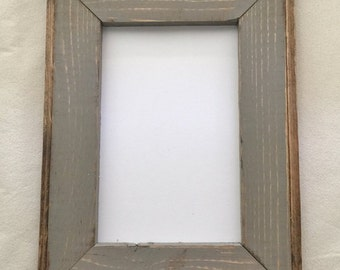 4 x 6 Wooden Picture Frame, Gray Rustic Weathered With Routed Edges, Rustic Home Decor, Rustic Frames, Rustic Wood Frames, Home Decor