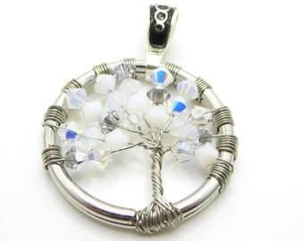 Handmade Swarovski Frozen Tree of Life Pendant  Inspired Jewelry - Olaf - Tree of Life Pendant - Swarovski - Winter