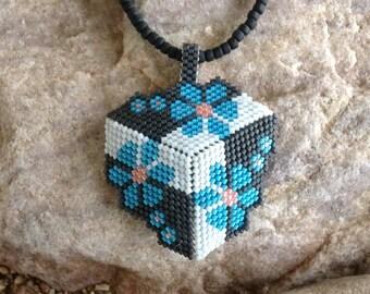 Blue Flowers Triangle Coker