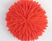 "30"" Orange Raw Wool Juju Hat"