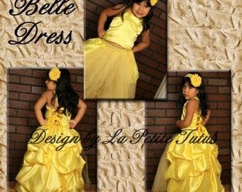 Belle dress, belle, princess belle dress, belle costume, tutu dress, flower girl dress, princess belle costume, princess belle dresses, tutu