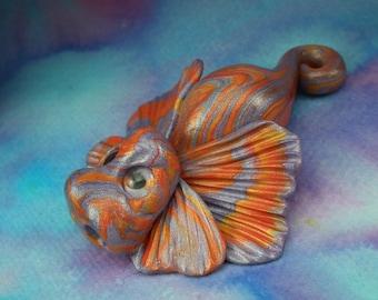 Precious Elemental Baby Dragon 'Neerah' OOAK Sculpt by Sculpture Artist Ann Galvin