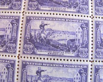 Battle of Brooklyn 50 Vintage UNused US Postage Stamps Williamsburg Bushwick Ridgewood Flatbush BK NYC 3c  Purple Wedding Postage Philately