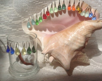 Pick Your Color Sea Glass Earrings