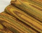 Woven Table Runner, Handmade, Mid Century Modern, Mustard Yellow, Gold, Green, 1960s TAFA