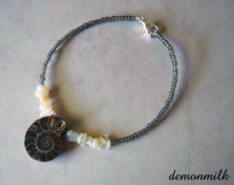 opal and ammonite bracelet
