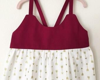 Baby, Toddler, Girls - Game Day Dress - Garnet and Gold