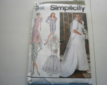 Pattern Brides and Bridesmaid Dresses Sizes 10 to 14  Vintage Simplicity 7657