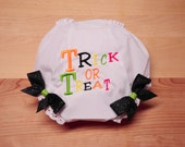 Halloween Trick or Treat Diaper Covers First Halloween Bloomers