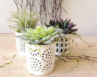 Succulent, succulent gift, faux succulent centerpiece, succulent plants, faux succulents, succulent wedding centerpiece,votive candle holder