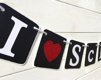 I Love School Banner, School Decoration, Back to school banner, September banner, first day of school, school photo prop