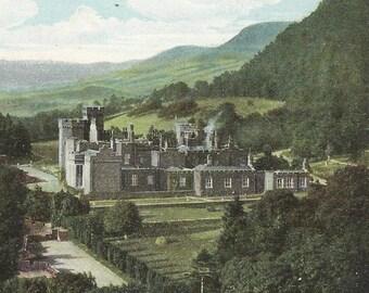 GARRON TOWER and Point Northern Ireland Vintage Postcard County Antrim 1905 Cancel Antique Postcard Aerial View
