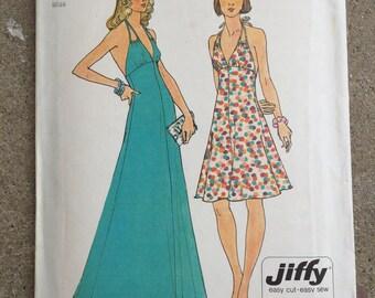 Vintage 1970's Halter Dress Simplicity  6385