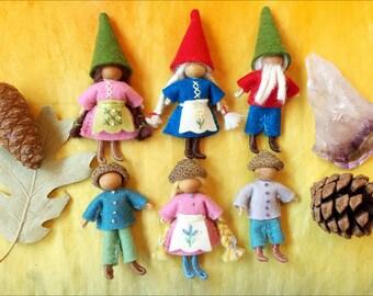 Felt Wee Folk Bendy Dolls and Gnomes