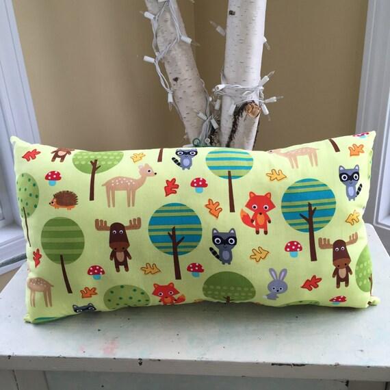 Woodland Pals throw pillow, Forest Friends pillow, nursery pillow, nursery decor,gender neutral nursery, owls,deer,fox,rabbit,woodland trees