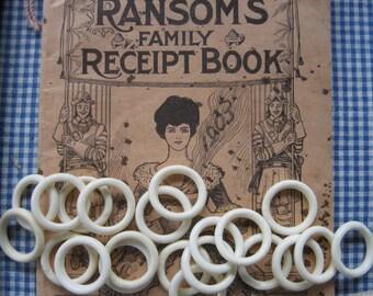 Antique Bone Rings...circa 1900...new old stock...lot/18