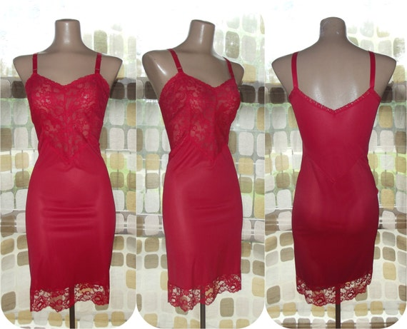 Red cocktail dress under 50 60s