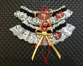 San Francisco 49ERS handmade wedding garter or prom set new style.