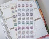 32 Hand drawn vintage TV life planner stickers, Perfect for Erin Condren, Kikki K, Plum Paper, Filofax