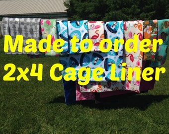 MADE TO ORDER Reversible Cage Liner 2x4 for Guinea Pig Hedgehog Small Animals