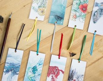 Art Bookmark - Art print bookmark with ribbon