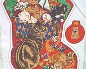 Kittens with cat - stocking fabric panel