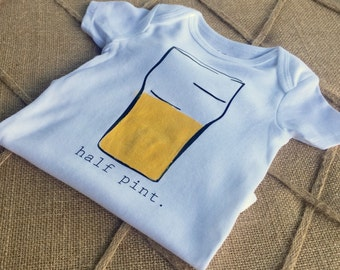 Half Pint, Onesie, shirt, Baby clothes,  bodysuit, children clothing, baby, tops,shirt