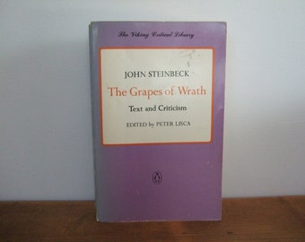John Steinbeck Grapes of Wrath Text & Criticism Edited by Peter Lisca