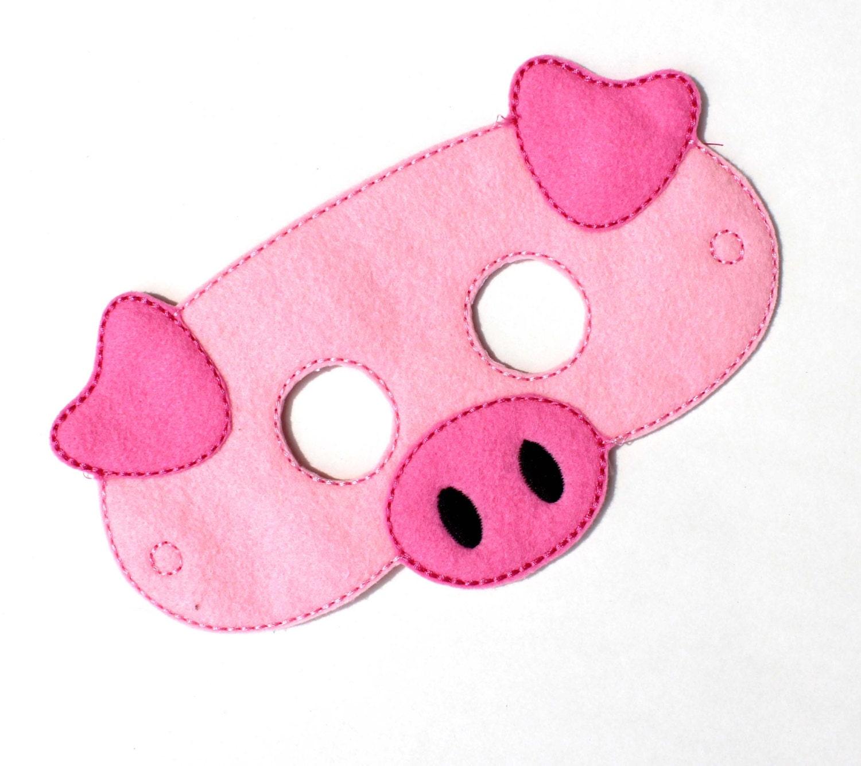 Kids Pig Mask Chicken Costume Felt MaskKids Face by BabyWhatKnots