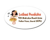 Aloha Girl Address Labels by Loralee Lewis