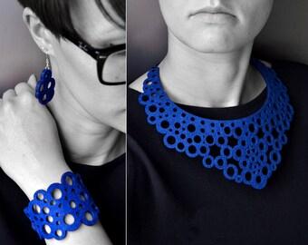 Felt laser cut necklace