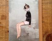 Cat Woman // Greeting Card