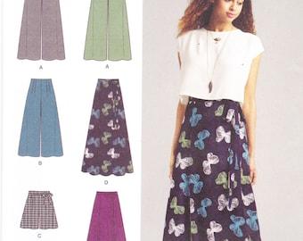 Simplicity Sewing Pattern 1069 Misses' Wide Leg Pants, Shorts & Skirts New UNCUT