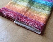 Organic Baby Blanket Rainbow with Handweaving and Organic Cotton Hemp