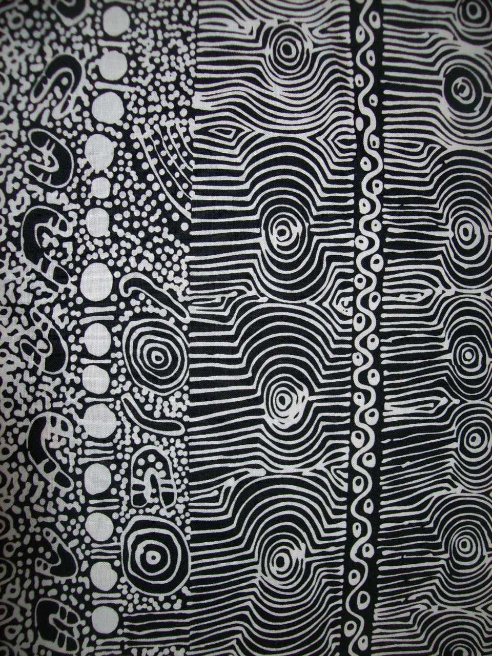 Per Yard Black And White Ethnic Designer Fabric Australian