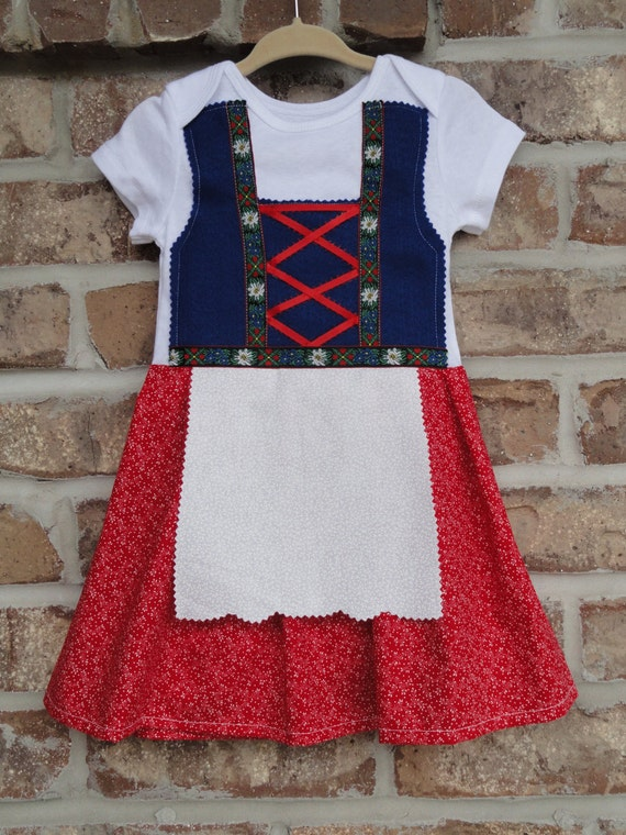 Edelweiss flower baby and toddler dirndl