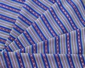 Guatemalan Fabric in Cornflower Blue and Marigold Stripes