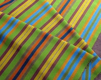 Guatemalan Fabric in Citrus Stripes