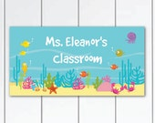 On sale this week ocean-themed-teachers-classroom-door-sign---sea-animals-teacher gift